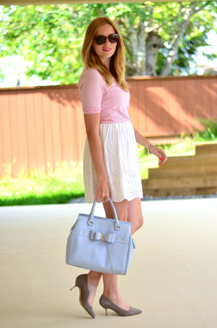 Temperance White Eyelet skirt
