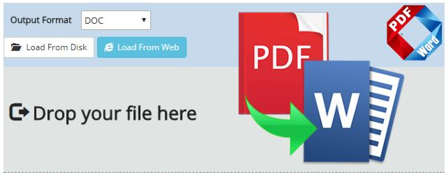 pdf file को word file में