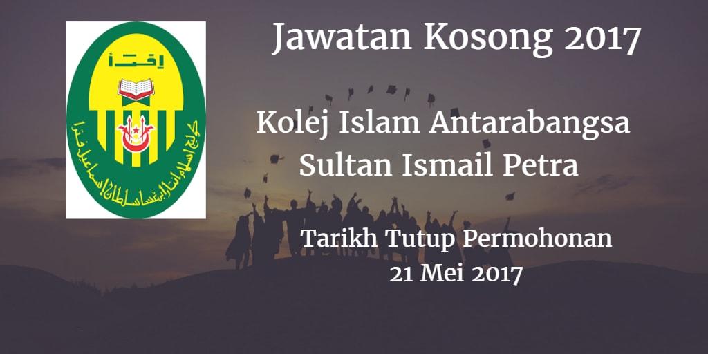 Jawatan Kosong KIAS 21 Mei 2017