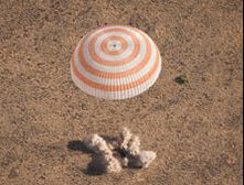 Space Station Trio Lands