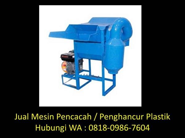 rangka mesin pencacah plastik di bandung