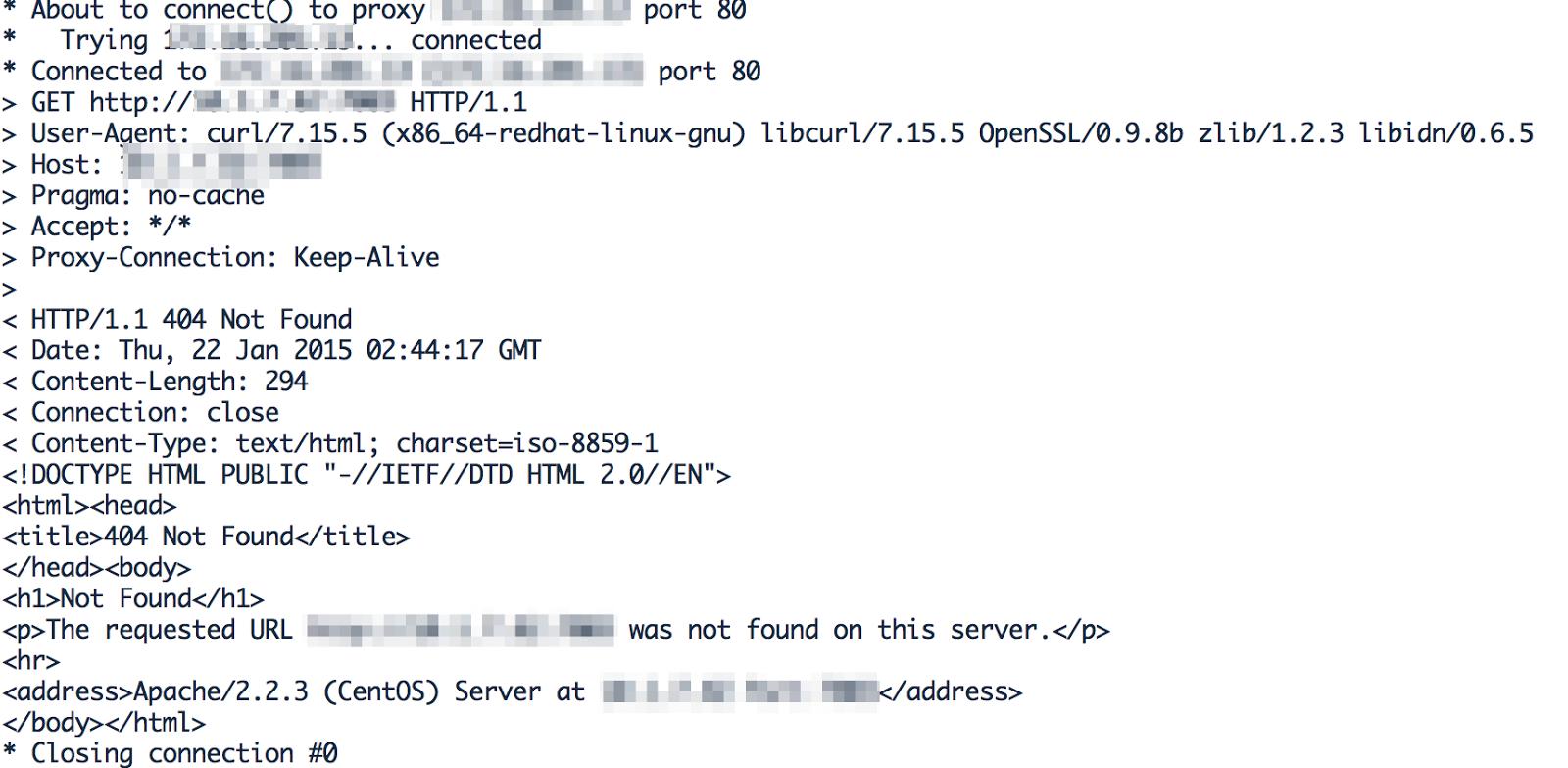 Apache Forward Proxy troubleshoot