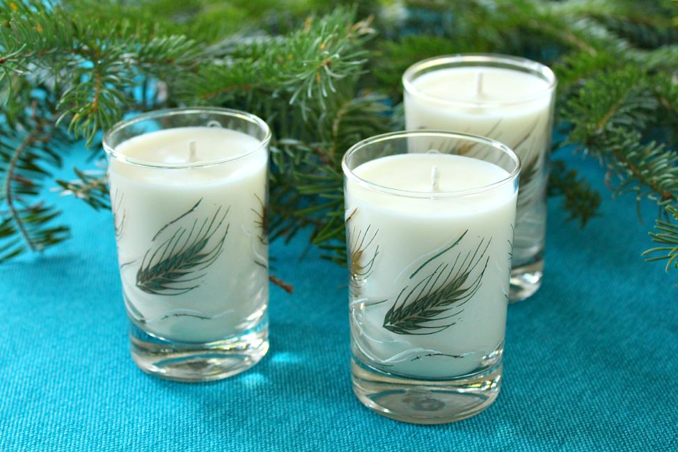 How to make poured soy candles