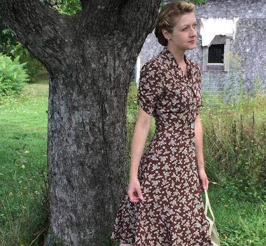 Refashioned 1980's Vintage Dresses into 1940's Style Outfits.