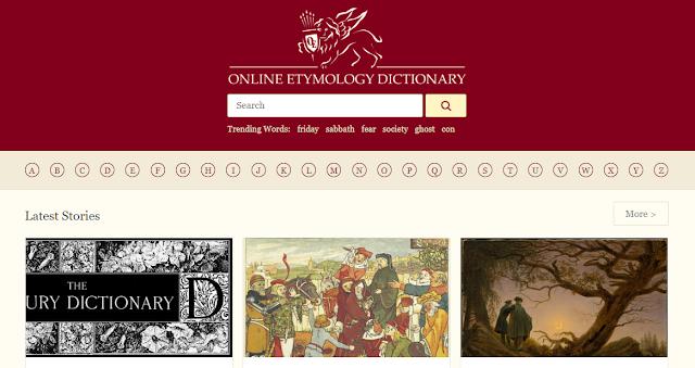 etymonline.com Aashcharyajanak Upayogee Website