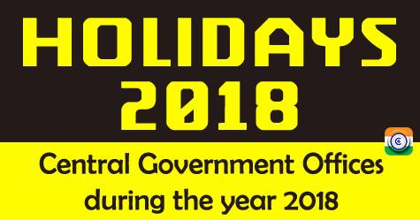 central-government-holidays-2018