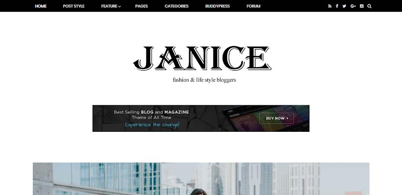 Janice Free Blogger Template