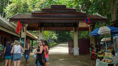 Entrance to Kuang Si falls