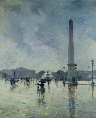 L'Averse (Place de la Concorde Sous La Pluie), 1888  par Alfred Smith