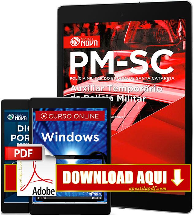 Apostila PM SC 2016 PDF Download Auxiliar Temporário da Polícia Militar
