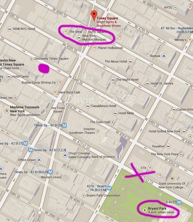 carte times square, new york city, usa