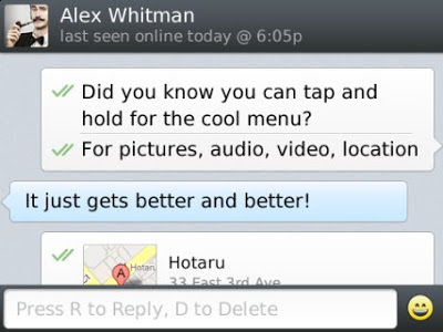 WhatsApp Messenger for BlackBerry 10