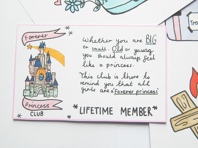 Forever princess Club lifetime member card