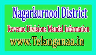 Nagarkurnool District Revenue Divisions Mandal Information