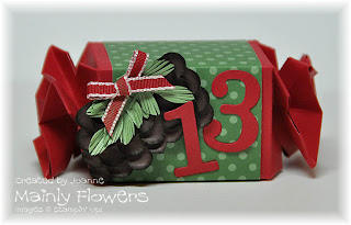 candy wrapper advent pinecone punch art