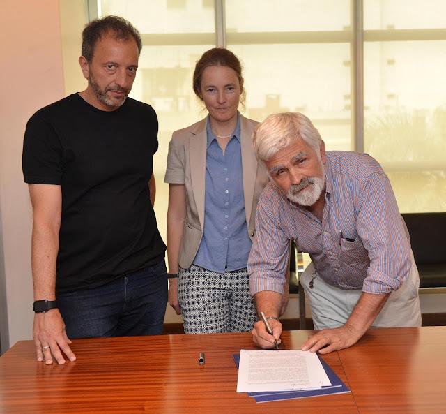 Diego Guebel, Florence Bauer y Kurt Frieder