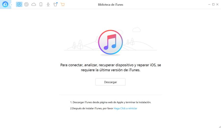 AnyTrans biblioteca iTunes