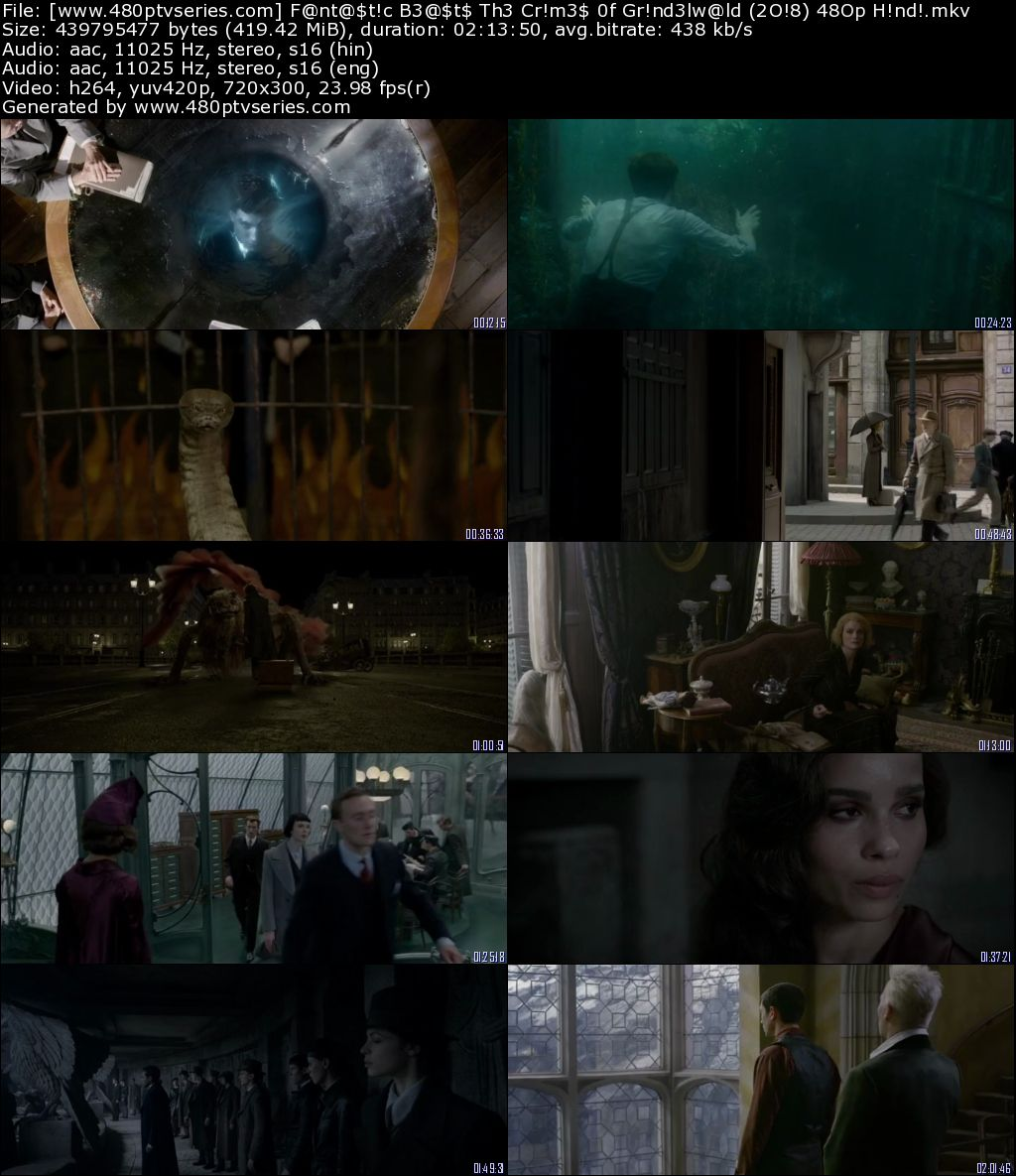 Fantastic Beasts The Crimes of Grindelwald 2018 Full Movie Hindi Download Dual Audio 480p Bluray Free Watch Online Full Movie Download Worldfree4u 9xmovies