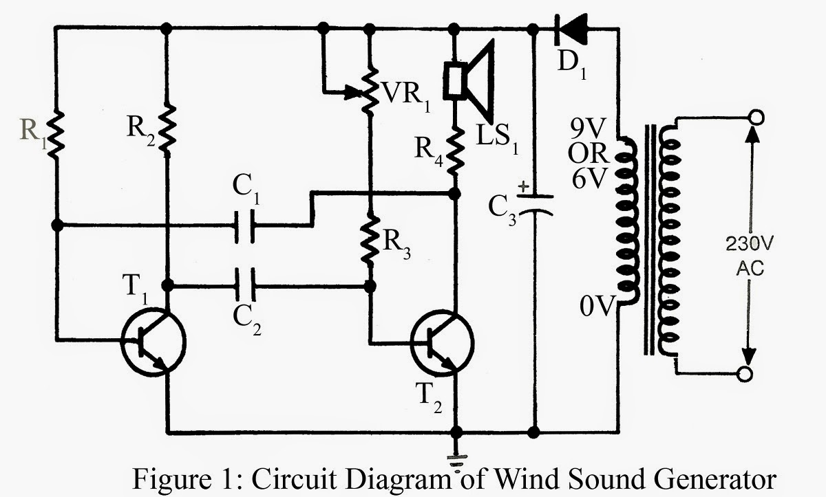 Wind Sound Generator Simple Circuit Projects Make Diagram