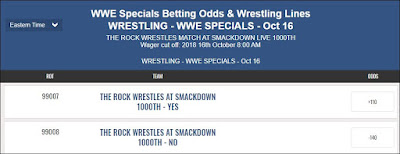 The Rock To Wrestle At Smackdown 1,000 Odds