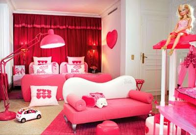 Desain Kamar Tidur Anak Perempuan Tema barbie