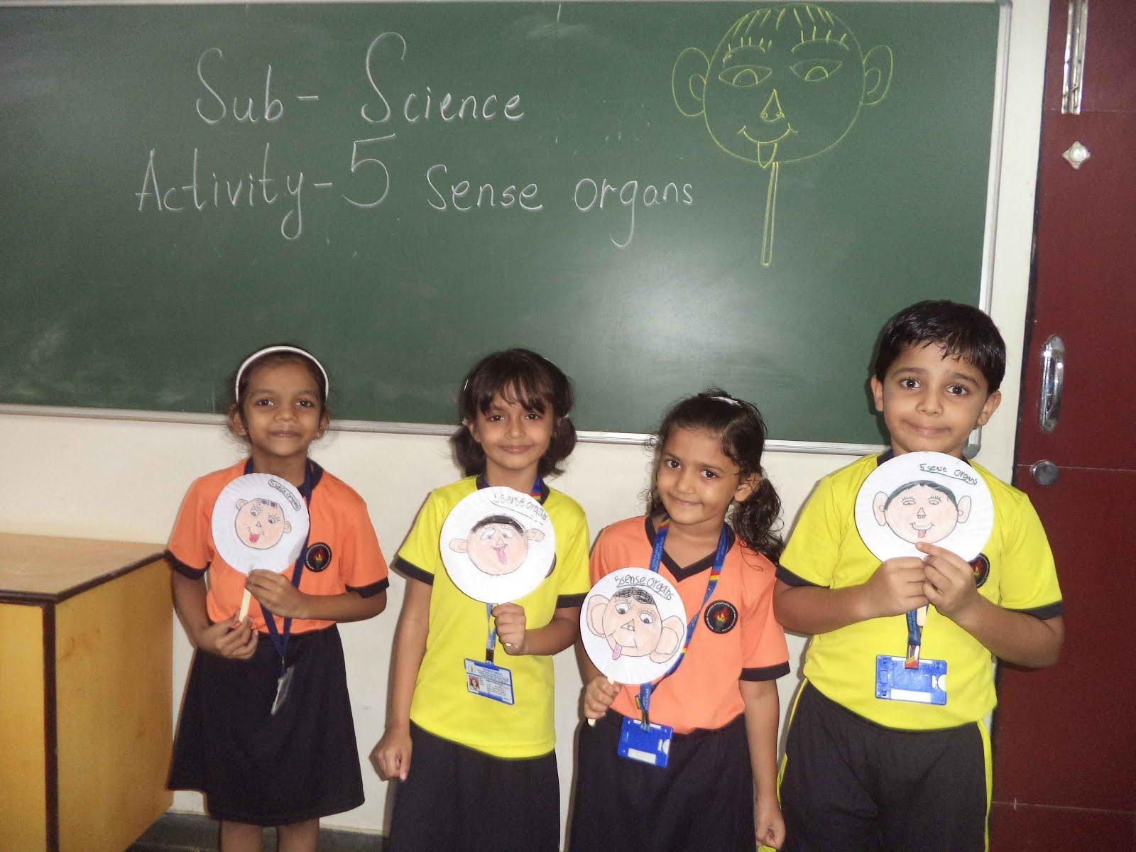 The Rustomjee Cambridge Diaries Science Activity Grade 1 Five Sense Organs
