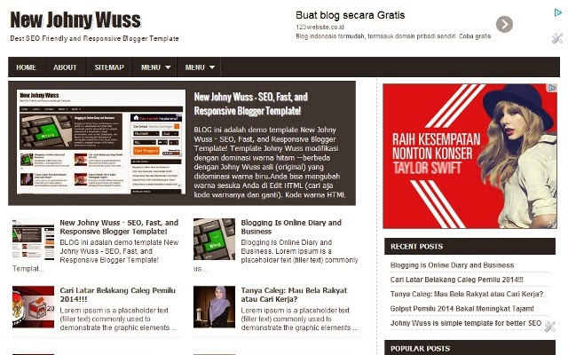 new johny wuss v1 responsive blogger template