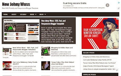 New Johny Wuss - SEO Fast Responsive Blogger Template