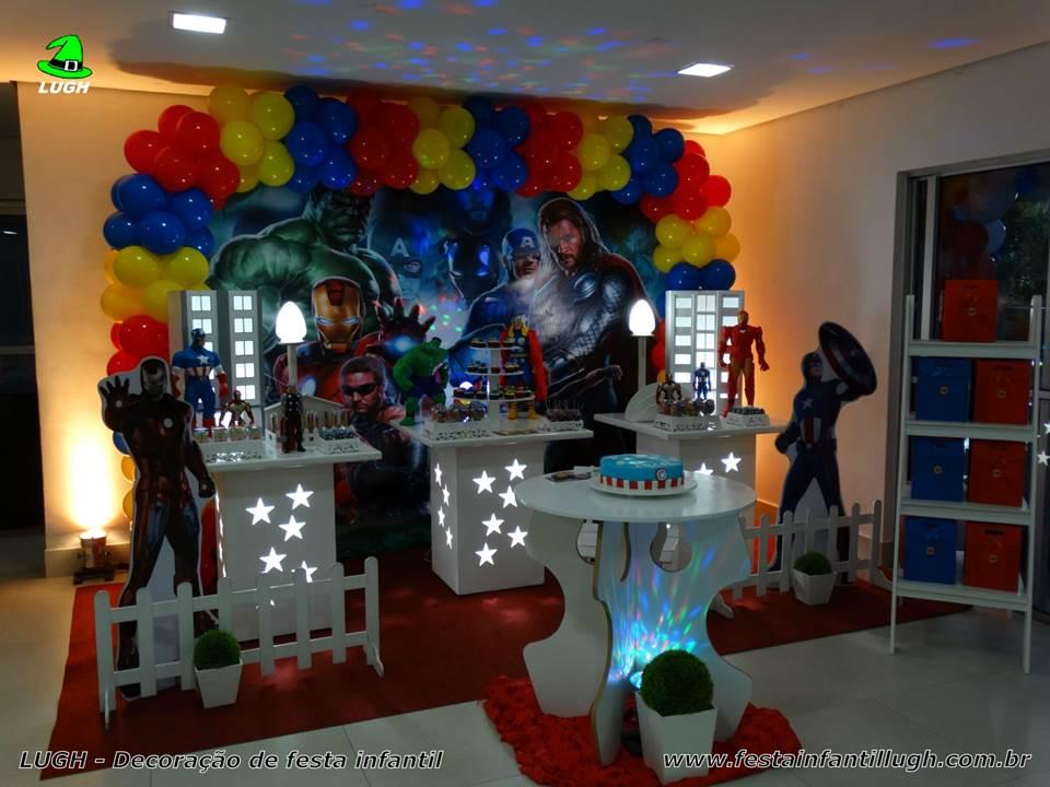 Decoraç u00e3o de festa Os Vingadores Aniversário infantil Festa Infantil Lugh -> Decoração De Festa Os Vingadores