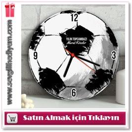 Kişiye Özel Futbol Topu Duvar Saati