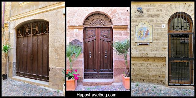 Unique doors in Alghero, Sardinia, Italy