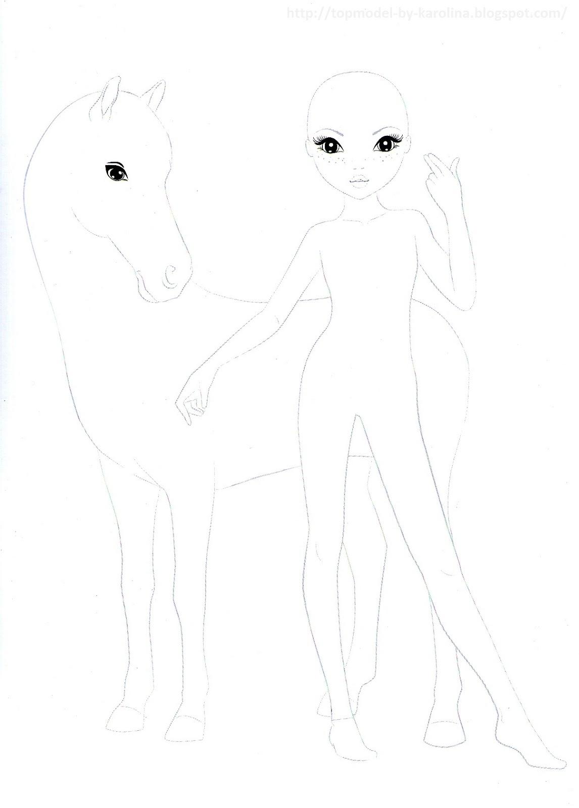 √ ausmalbilder topmodel pferde  topmodel malvorlagen