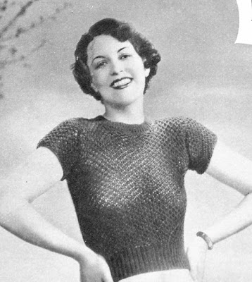 The Vintage Pattern Files: Free 1930s Knitting Pattern - A Blouse In Honeycomb Stitch