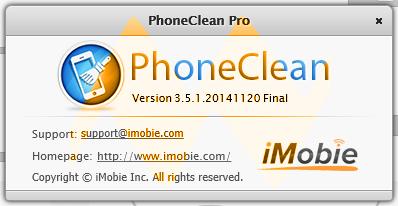 PhoneClean Pro 3.5.1 Full Version