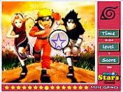 لعبة ايجاد النجوم في صورة ناروتو Naruto Hidden Stars