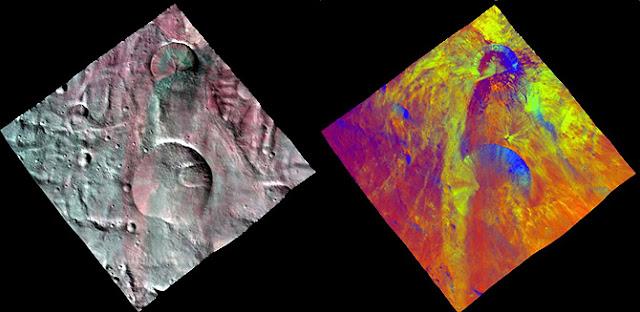 crateras em Vesta