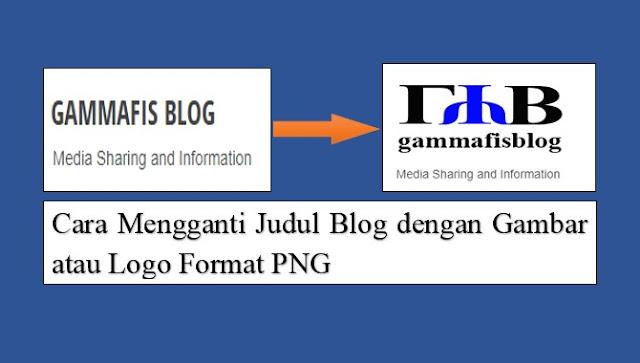 Cara Mengganti Judul Blog dengan Gambar atau Logo Format PNG