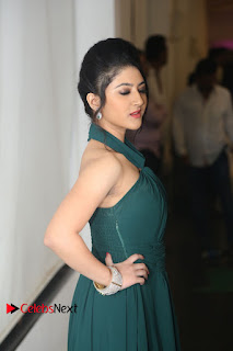 Actress Shriya Sharma Pictures in Long Dress at Nirmala Convent Audio Launch  0035.JPG