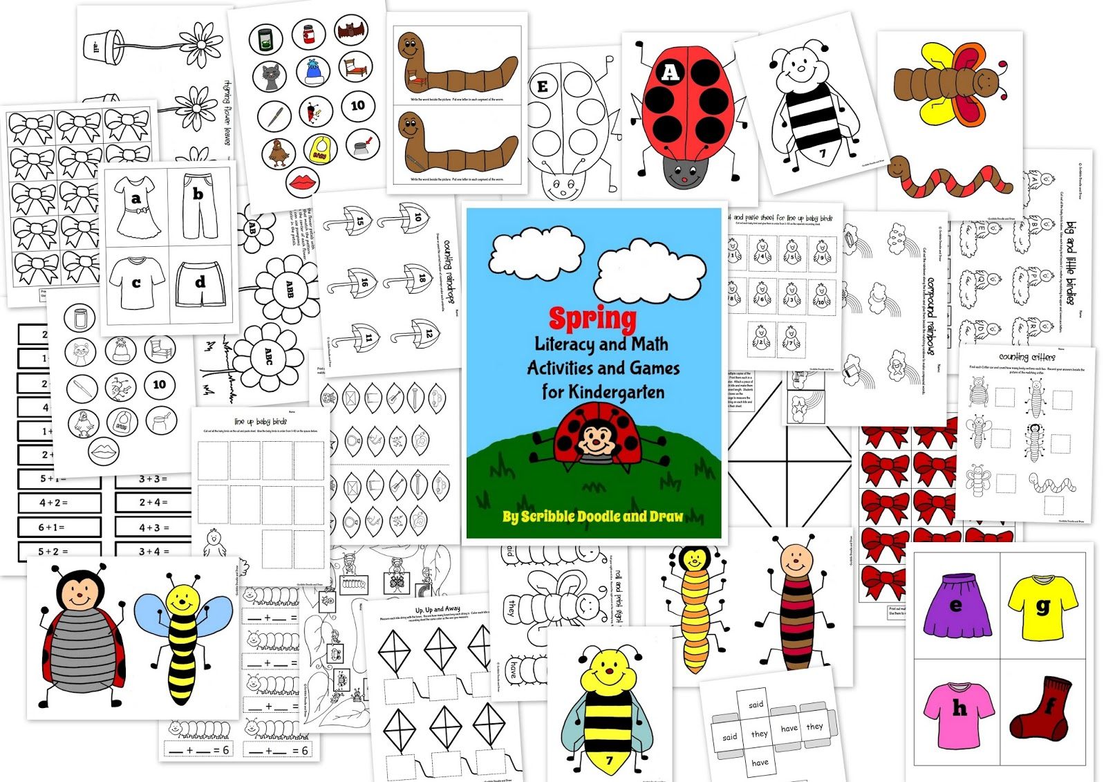 Printable Spring Worksheets And Activities For Kindergarten