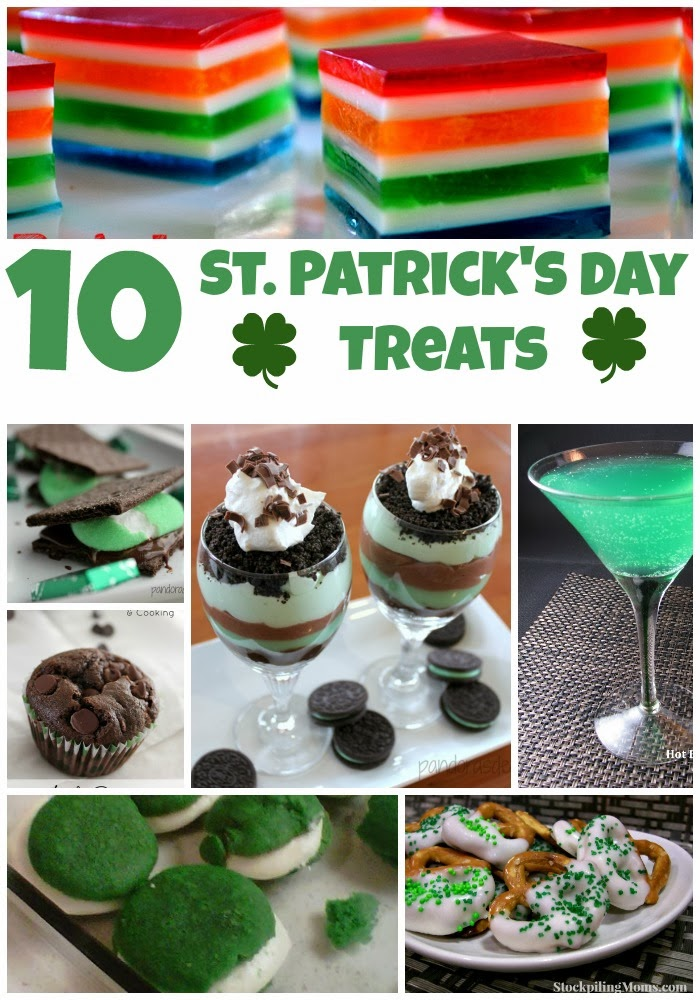 These delicious St. Patrick's Day treats might just bring you a bit of luck! #recipes #St.Patrick'sDay