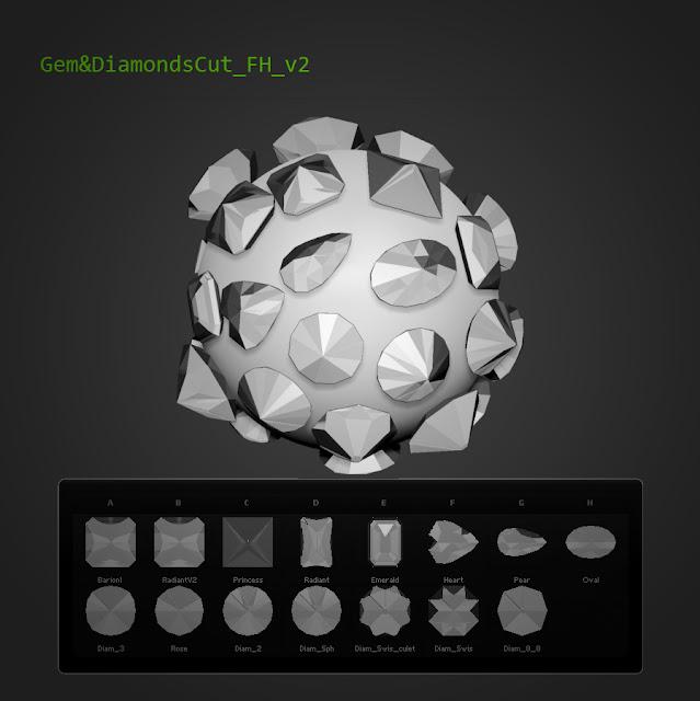 15 tallas Gem&DiamondsCut Fran Hazard v2 Zbrush 4R5