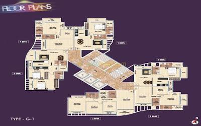 Ajmera Kalyan Floor plan