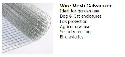 Galvanized steel, wire mesh hardware cloth