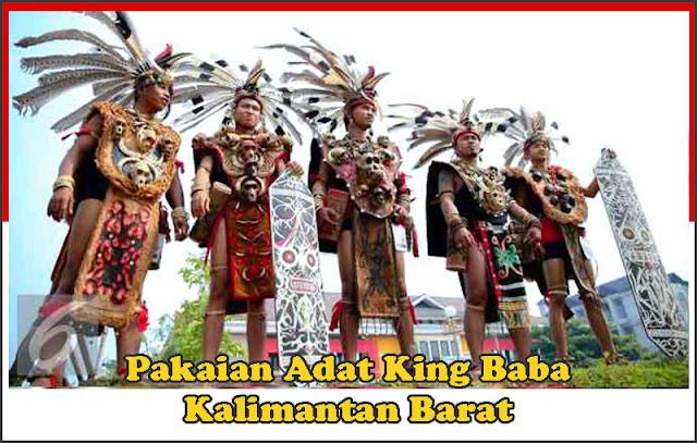 Gambar Pakaian adat pria King Baba Kalimantan Barat