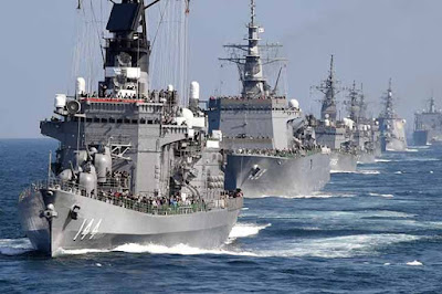 Japón y EE.UU. en maniobras navales conjuntas en el Pacífico