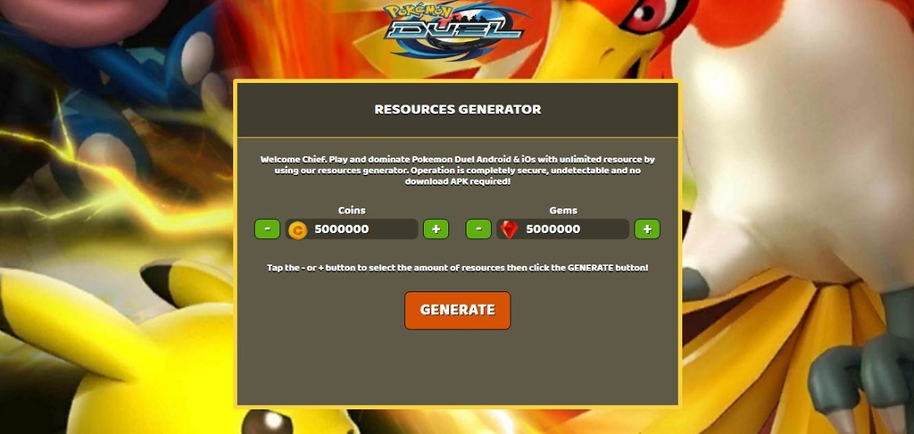 Image result for pokemon-duel-hack-coins-gems-cheats