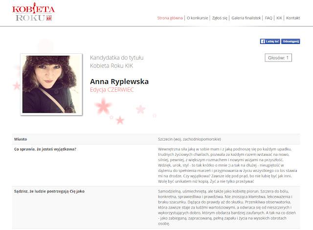 kobieta roku Anna Ryplewska KIK