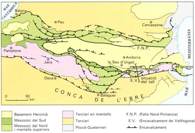 Mapa geològic del Pirineu lleidetà