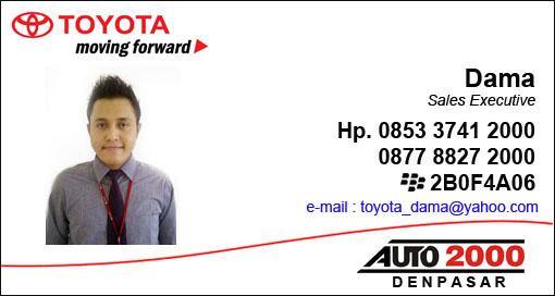 Rekomendasi Sales Toyota Auto 2000 Sanur - Denpasar Bali Jl. Bypass I Gusti Ngurah Rai No. 395 Denpasar Bali