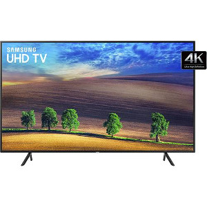 "Smart TV LED 49"" Samsung Ultra HD 4k 49NU7100 com Conversor Digital 3 HDMI 2 USB Wi-Fi Solução Inteligente de Cabos HDR Premium Smart Tizen"